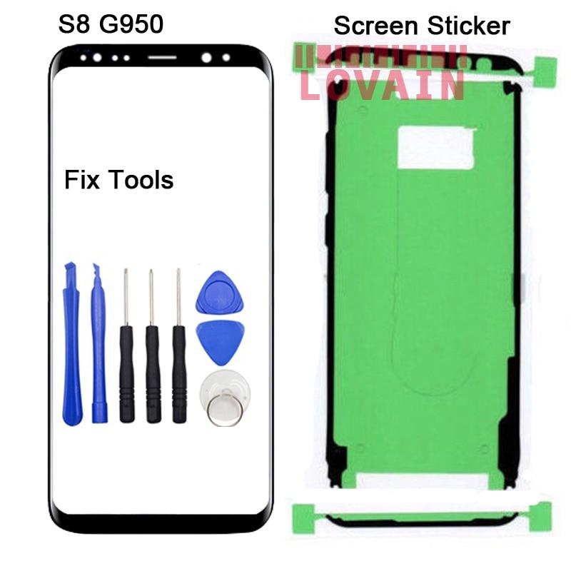 LOVAIN 1 PCS (Original) pour Samsung Galaxy S8 G950R4 G950K G950L G950 G950F G950S Avant Écran Tactile Extra-Atmosphérique Lentille En Verre Panneau + Outils