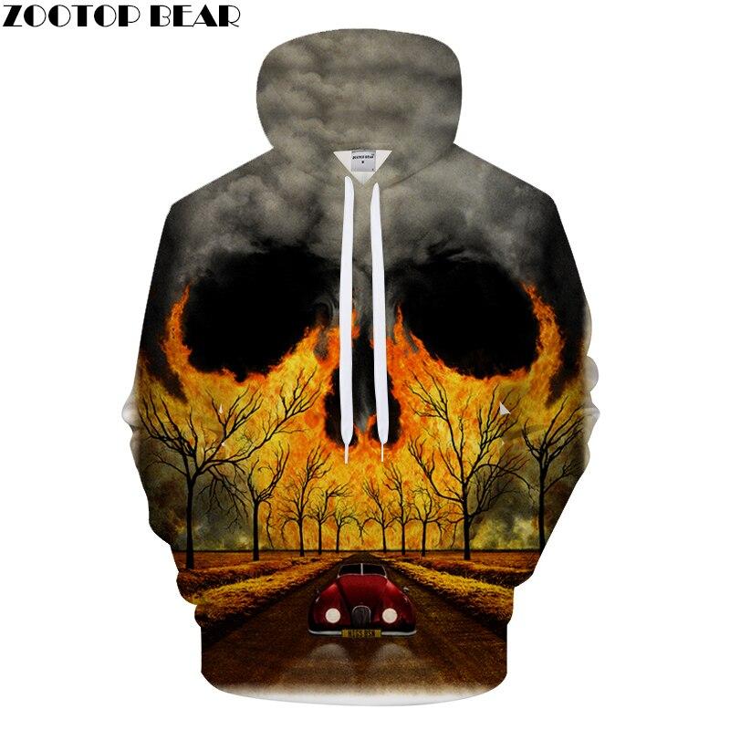 Dark Cloud&Skull 3DPrint Hoodies Men Women Casual Hoodie Boy Sweatshirt Tracksuit Brand Pullover Personality DropShip ZOOTOPBEAR