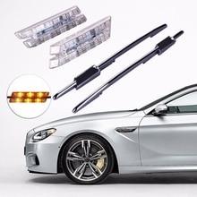 2pcs Car LED Smoke Fender Side Turn Signals LED Marker Light 12V Bulb Kit for BMW E60 E61 E81 E82 E87 E88 E90 E91 E92 E93 M Logo 2pcs led side marker light fender turn signal lamp for bmw e81 e82 e87 e88 e90 e91 e92 e60 e61 auto car styling lamp accessories