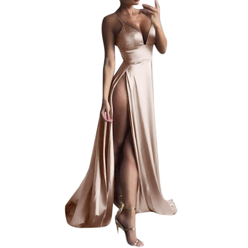 High-Split Sexy Evening Party Dress