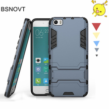 Купить с кэшбэком Xiaomi Mi5 Case Xiaomi Mi 5 Cover Robot Plastic Armor Phone Case Back Cover Bumper  For Xiaomi Mi 5 Case Xiaomi Mi5 BSNOVT
