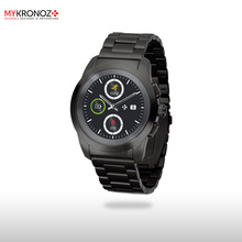 Смарт часы гибридные ZeTime Elite Petite мозаичный металлический браслет цвет черный