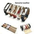 Mi banda 2 inteligente pulseira de couro alça de pulso e protetores de tela para original xiaomi miband 2 oled display pulseiras