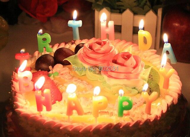 Famoso Lettera di buon compleanno candele set di colori misti digitale  PC23