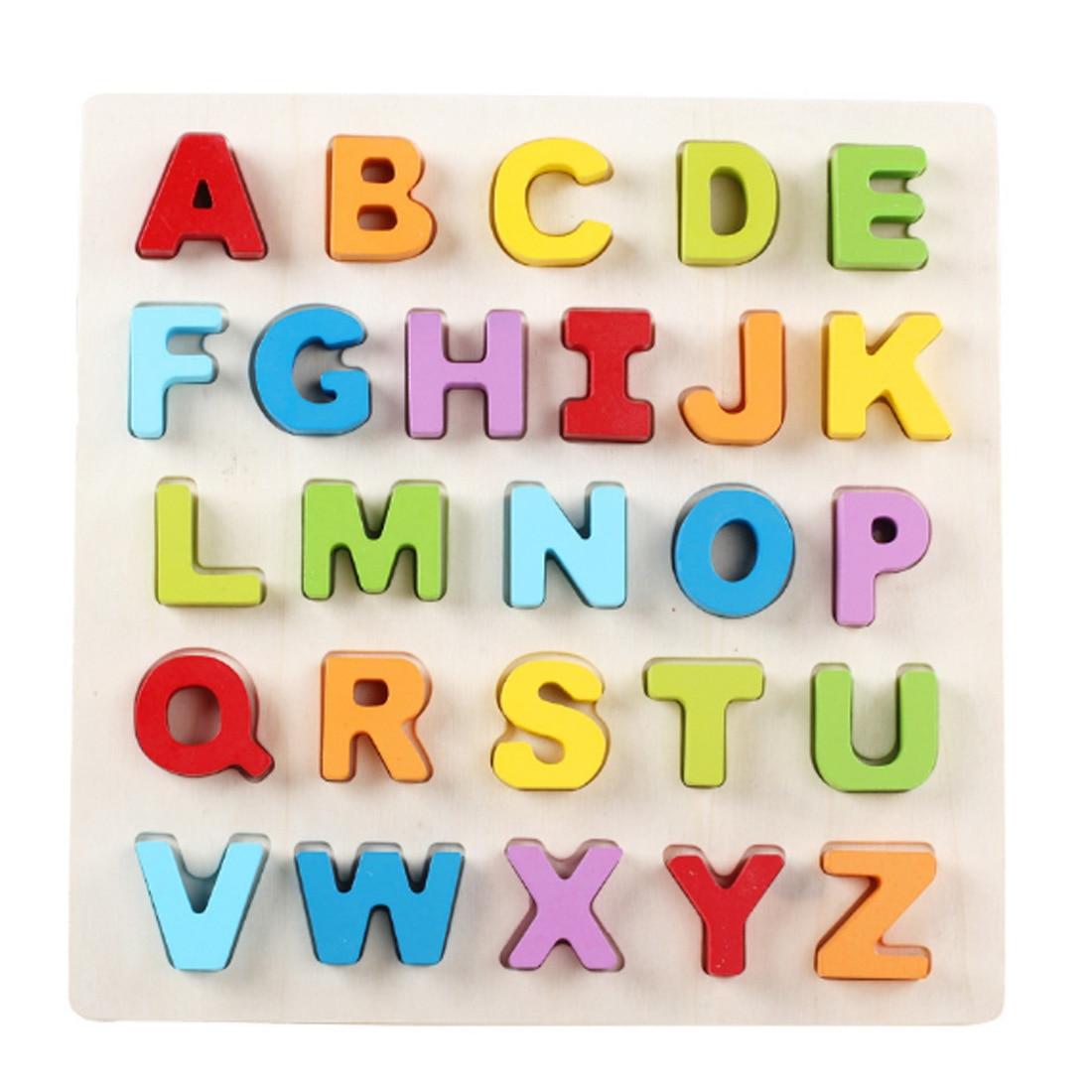 3D Wooden Puzzle Toy baby Abc Board 3d Kids Preschool ...