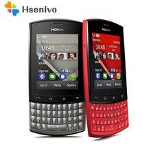 Разблокированный мобильный телефон Nokia asha 303 2,4 '3g Bluetooth MP3 сотовый телефон 1300 мАч