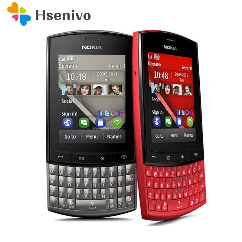 100% Original Unlocked Nokia Asha 303 Mobile Phone 2.4' 3G Bluetooth MP3 Cell Phone 1300 MAh Free Shipping