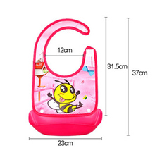 Waterproof Silicone Meals Pocket Baby Bibs