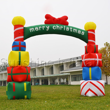 Merry christmas holiday giant inflatable christmas arch with gift boxes for opening ceremony