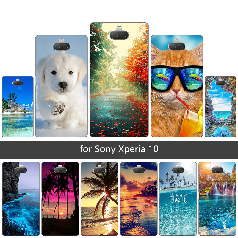 Phone <font><b>Case</b></font> For <font><b>Sony</b></font> <font><b>Xperia</b></font> <font><b>10</b></font> Soft <font><b>Silicone</b></font> Protection Shell For <font><b>Sony</b></font> <font><b>Xperia</b></font> XA3 Scen Back Cover Ultra Thin Customized Capa image