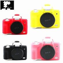 Silicone Mềm Vỏ Giáp Bảo Vệ Lưng Da Cơ Thể Dành Cho Canon EOS M50 Máy Ảnh Kỹ Thuật Số