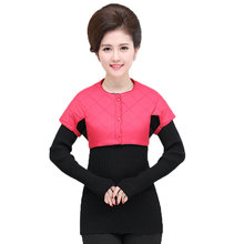 цена на Woman Shoulder Pad Vest Red Black Purple Short Waistcoat Women Puffer Shoulder Padded Vests Lady Round Collar Bolero Weskit Vest