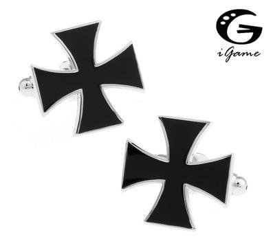 Cross Cuff Button 3 Colours Option Cross Style Copper Material Cufflinks abotoadura