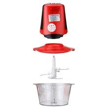 3L 220V 50Hz 250W Red Multifunctional Electric Meat Grinder Food Chopper US 2 Pin Plug Split Design Rated Working Time 20s