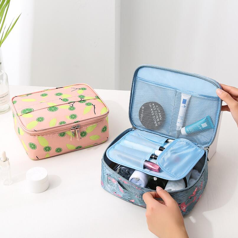 Image 2 - Korean Style Travel Cosmetic Supplies Portable Receipt Bag Portable Travel Lady Wash Bags Suitcase Organizer Hand Held Storage-in Storage Bags from Home & Garden