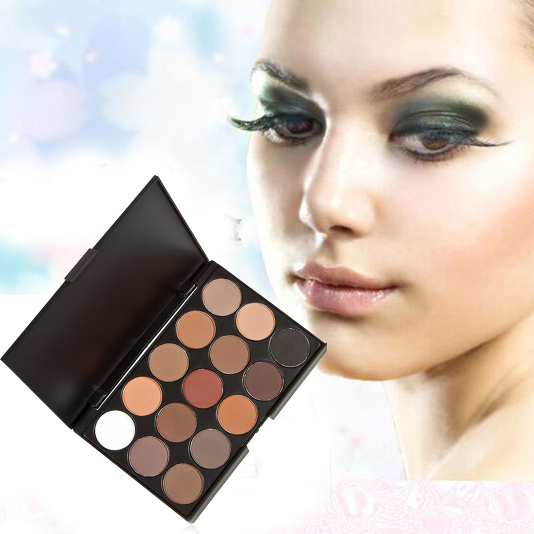 Fashion 15 Colors Eyeshadow Palette Women Diamond Bright