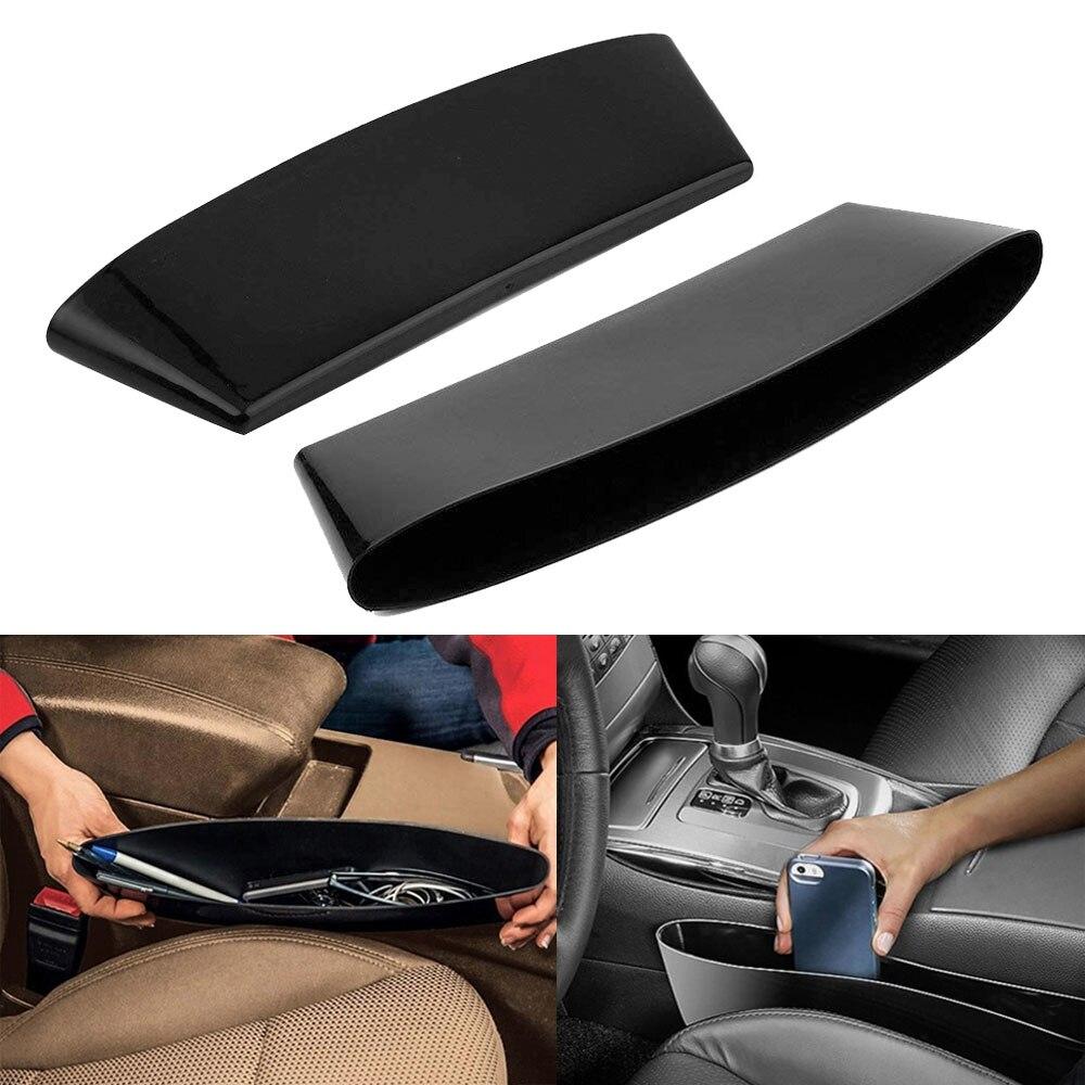 1 pcs Car-Styling Car Seat Gap Pocket Holder Storage Pouch Purse Coins Key Car Seat Organizer Car Accessries Black(China)