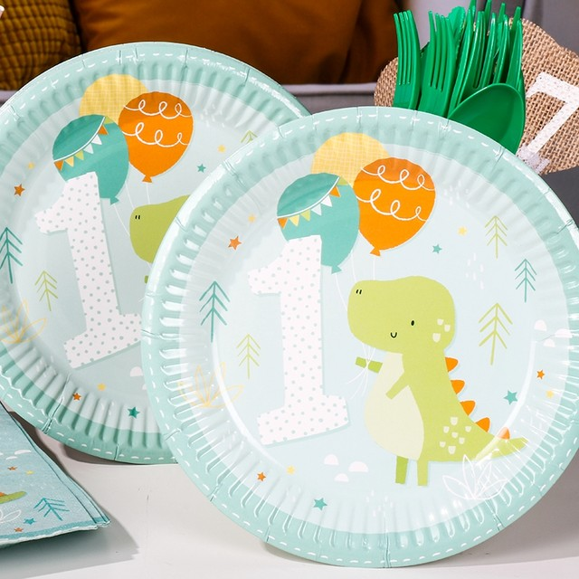 Riscawin 60pcs Crocodile Paper Plates 1st Birthday Party Decoration For 8 Packs Disposable Tableware Set Baby Shower Supplies & Online Shop Riscawin 60pcs Crocodile Paper Plates 1st Birthday Party ...