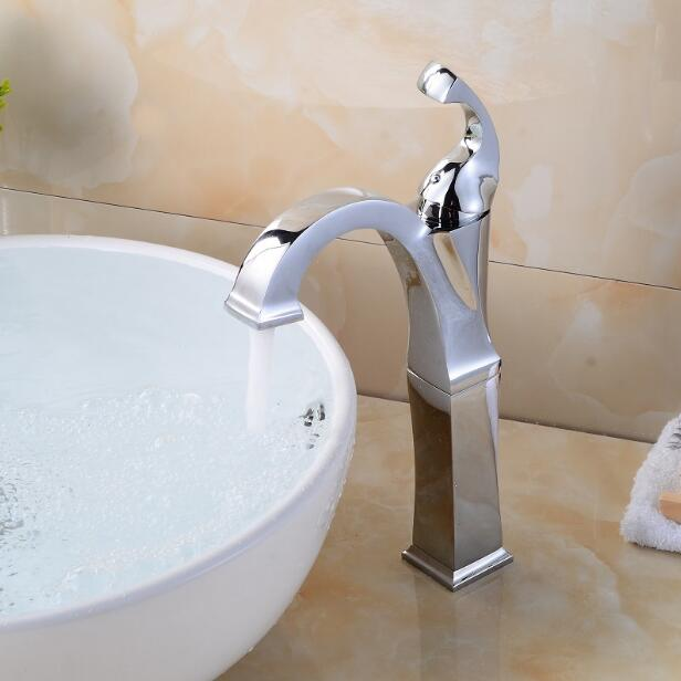 цена на New arrival High Quality Basin faucet brass bathroom faucet chrome finished single level sink faucet water tap sink faucet