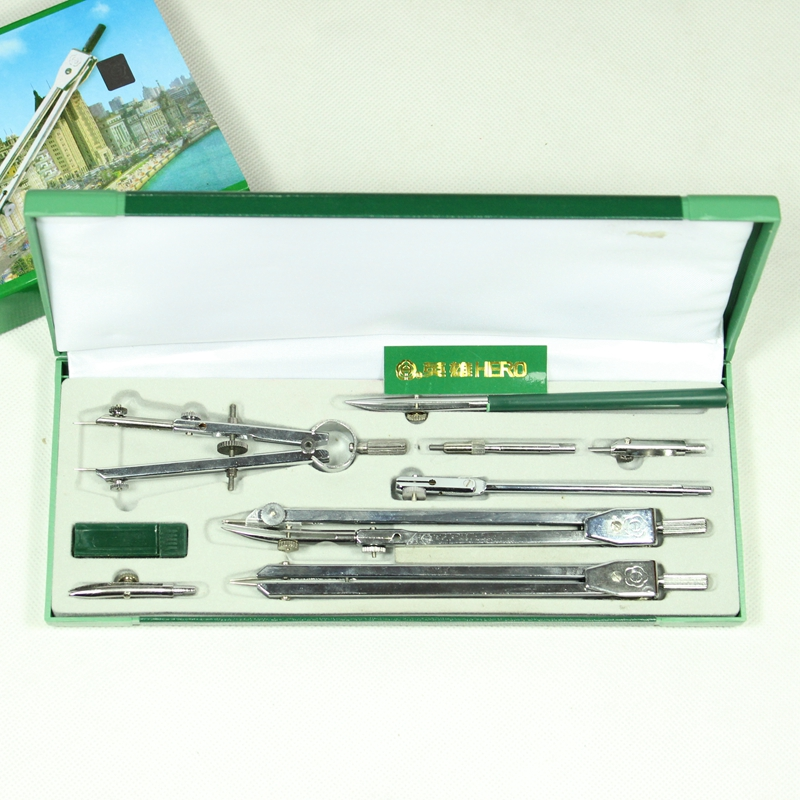 HERO Drawing Compasses H4009 Mechanical Architecture Engineering Specialty Drawing Compasses Tool Set hero h2102 drawing metal divider big protractcr compasses available medical ecg