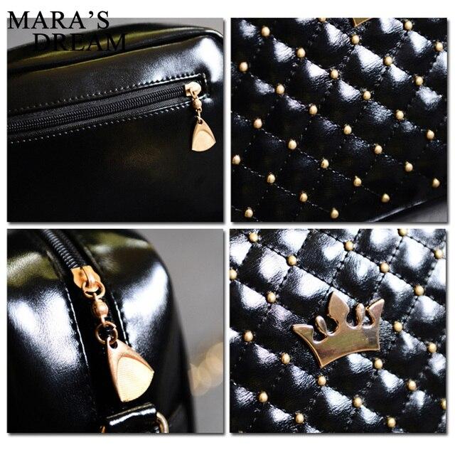 Mara's Dream Small Women Bag Fashion Handbag With Crown Mini Rivet Shoulder Bag Women Messenger Bag 2019 Hot Sale 4