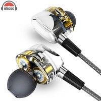 OKCSC G2 Driver Dinâmico Fones De Ouvido Pistão Subwoofer Fones de ouvido Com Microfone de ALTA FIDELIDADE Qualidade de Som Perfeito