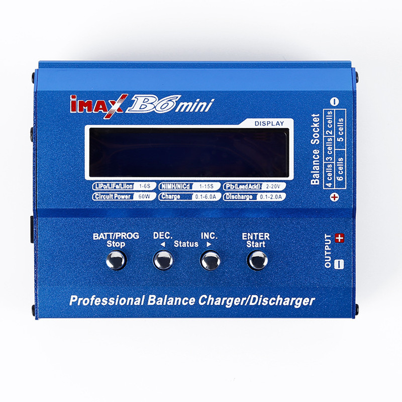 AKASO IMAX B6 MINI 60W Balance Charger Discharger For RC Helicopter Battery Charging Re peak Mode