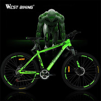 Mountain Bike Shockingproof Frame 21 Speed Gear Shift 26 Inch Double Disc Brakes Shifter Set For