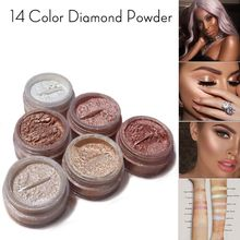 Diamond shimmer Glow Powder Highlighter eyeShadow illuminating cream highlighting make up gold highlighter Highlight Loose Power