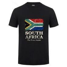 2018 Date Afrique Du Sud Drapeau Hommes Courtes T Chemise De Mode Vis cou  Pur Coton 3XL Garçon Nouvelle Marque Nation Jour T-. 3b97289a34f