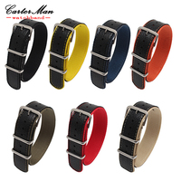 High Quality Leather Nylon Nato Watchbands 18mm 20mm 22mm 24mm 7 Colours Watch Sports Watch Band