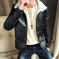 2017 Hot Sale Winter Thick Leather Garment Casual flocking Leather Jacket Men's Clothing Leather Jacket Men Blazers