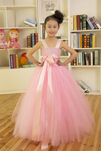 Retail 2016 Bridesmaids Flower Girl Dresses For Children Elegant Baby Sleeveless Dresses Kid Pageant Dress Tutu Baby Dress