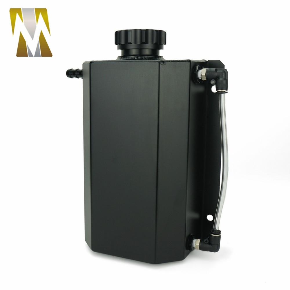 Autoleader 2L bouchon Aluminium réservoir collecteur d'eau liquide de refroidissement radiateur trop plein coffre bidon réservoir Kit de récupération liquide de refroidissement réservoir d'eau - 5