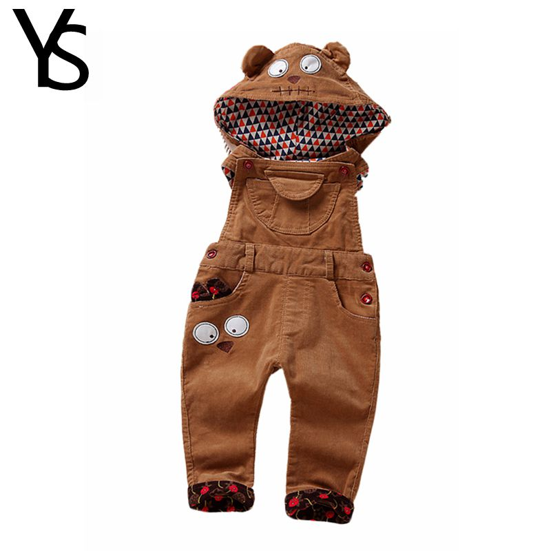 Top Quality Infant Long Pants Baby Overalls Girls Boys Corduroy hooded jumpsuit Rompers Clothes Toddler Clothing autumn 1800 2017 infant romper baby boys cute panda rompers girls jumpsuit new born bebe clothing hooded toddler baby clothes baby costumes