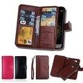 Para LG G5 Case Magnetic 2 em 1 removível caso carteira de couro para LG G3 e para LG caso G4 9 cartões de Slots Mobile Phone casos cubra