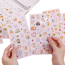 20packs/lot Scrapbooking Creative Cartoon Small Fresh Decoration Label Album Stickers Kids Toy Gifts
