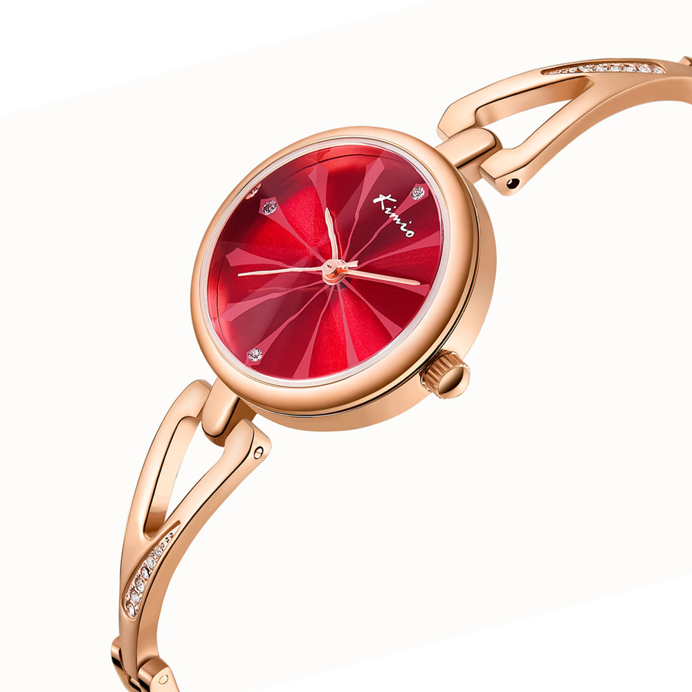 Kimio Ladies Ladies Luxury Womens Watches Luxury Brand Banda de acero - Relojes para mujeres