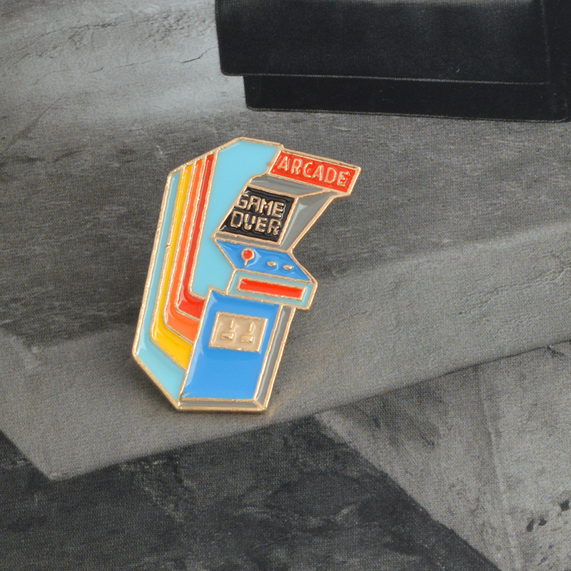 Retro arcade vintage enamel lapel pin GAME OVER videogame old school retro arcade classic games miss the past