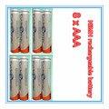 8 Unids/lote Original A Estrenar 3A Baterías Recargables 1.2 V Batería Recargable NI-MH AAA HR03