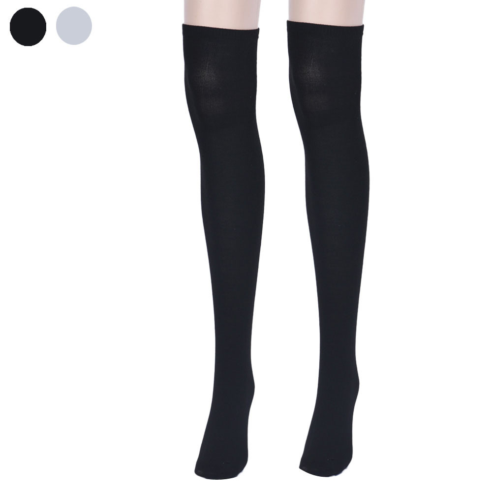 High Quality Over Knee Thigh High Stockings Compression Boots Leather Stockings Cosplay Solid Meias Mulheres #OR
