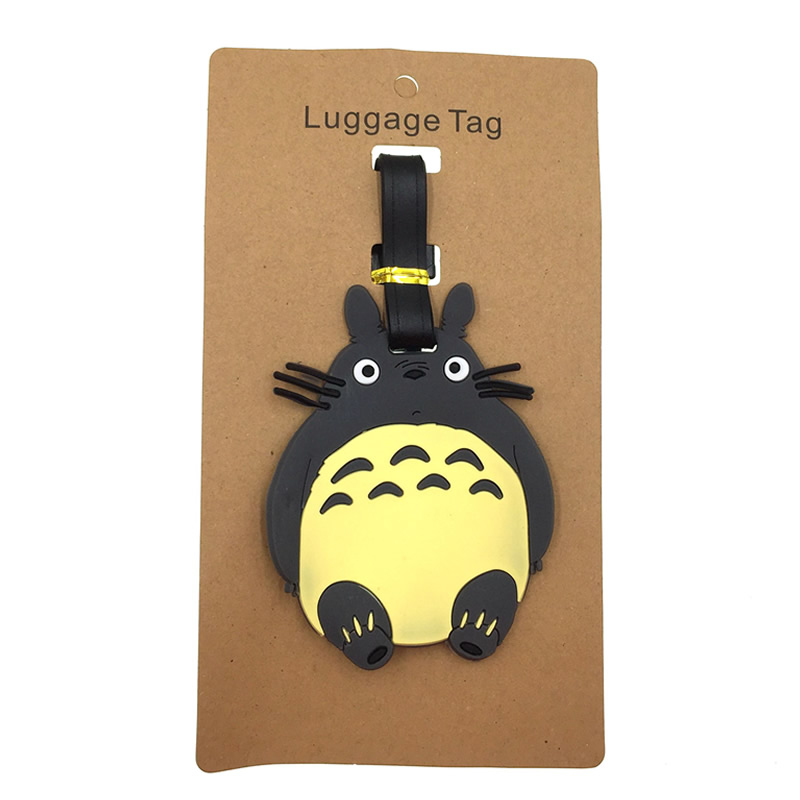 Cartoon Totoro Luggage Tags Silica Gel Suitcase Holder Portable Label Baggage Boarding ID Travel Accessories Addres Credit Women