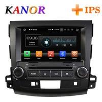 KANOR ips Оперативная память 4 г Octa Core Android 8,0 2din автомобиля радио для Mitsubishi Outlander 06 12 головного устройства gps навигатор 2 Din стерео