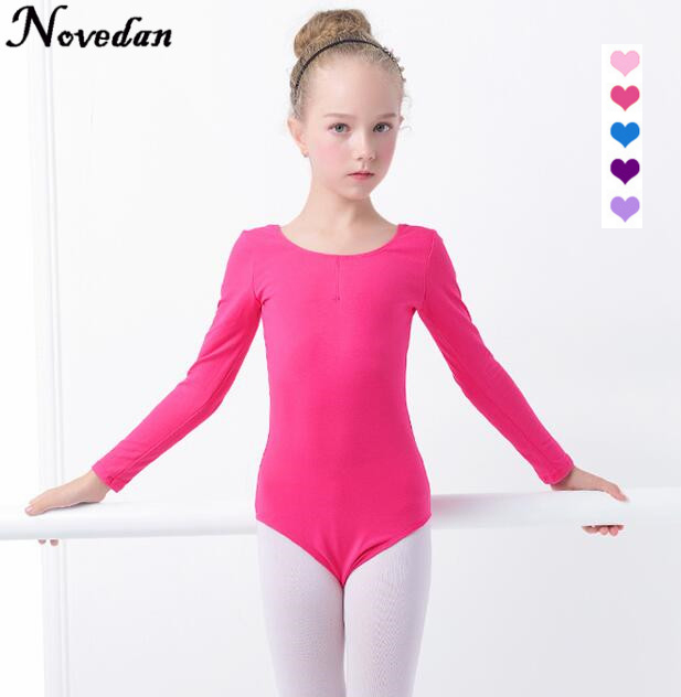 children-kids-black-pink-cotton-short-long-sleeve-leotard-clothes-girls-font-b-ballet-b-font-dance-gymnastics-dancewear