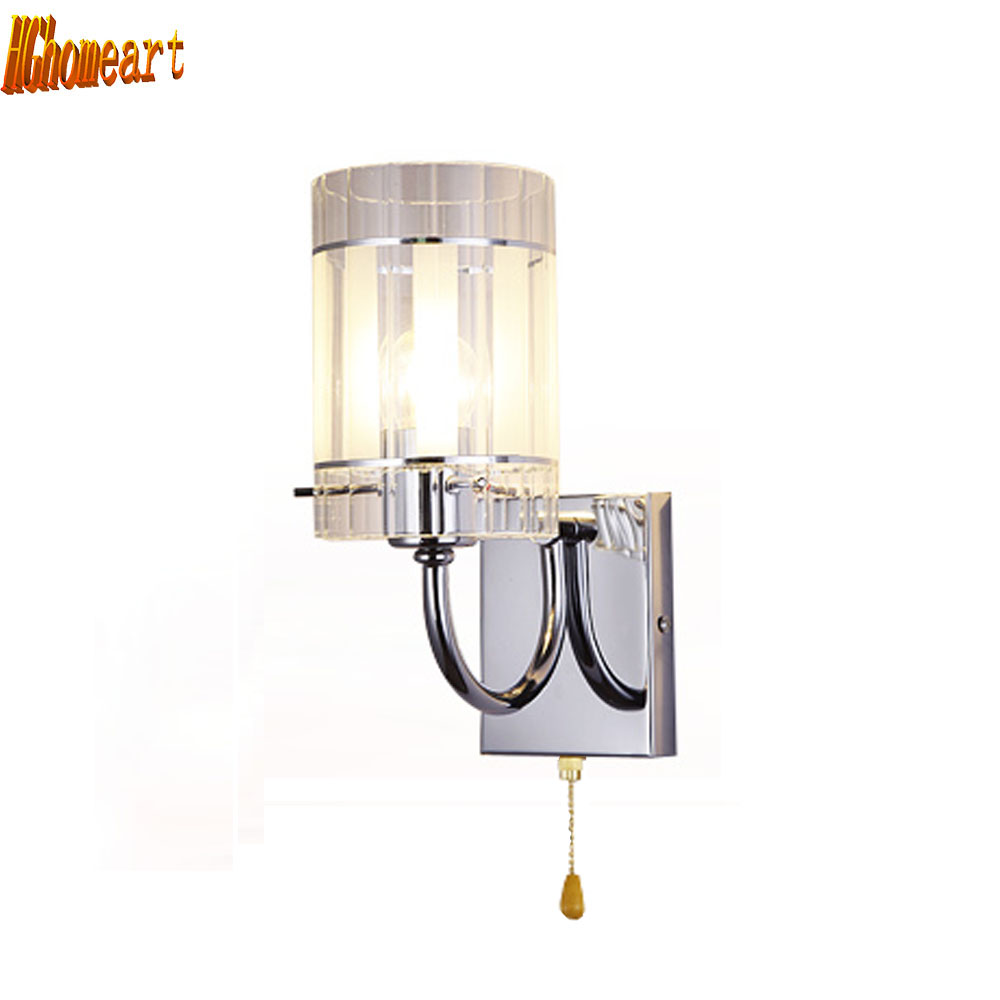 Bedside wall mounted lamps - Hghomeart Crystal Sconce Wall Lights Nordic Bedside Lamp Wall Reading Lamps Wall Mounted Light Wall Mounted