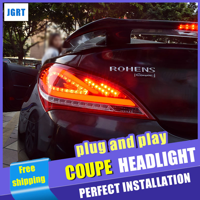 car styling For Hyundai Rohens Coupe taillight assembly 2009 2012 for Coupe rear car light led taillight light with 2pcs.