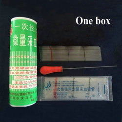 1box (400pcs) 20ul to 100ul glass disposable blood collection vessel glass capillary tube micro capillary pipette