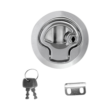 2″ Flush Mount Hatch Pull Latch Marine Key Door Locking Hardware Accessory For Boat Yacht 2-12mm Thickness