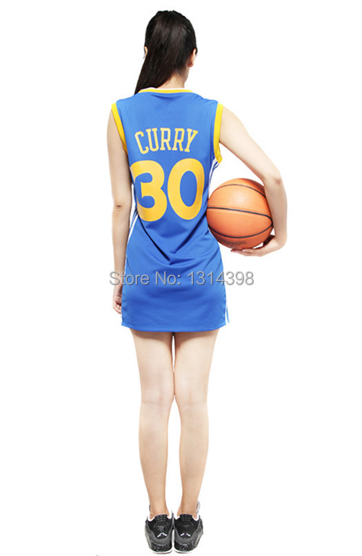 30 Stephen Curry Women Woman Basketball Shirt Jersey Sexy Dress