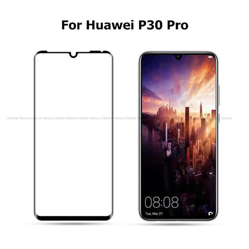 9H Tempered Glass For Huawei P30 P20 Mate 20 Lite Pro For Honor 8X 8C 10 Lite Y9 2019 Nova 4 P Smart Full Cover Screen Protector
